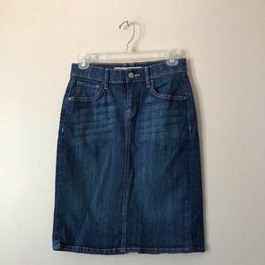 Old Navy high Waisted denim pencil skirt
